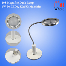 Hottest sell on Amazon 12V 6W Aluminium LED Magnifier desk lamp portable magnifier