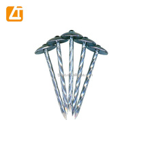 Twisted plain smooth screw shank nails roofing nails with washer clavo para techo