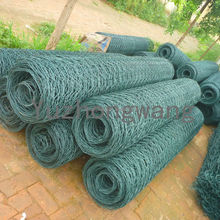 Green Pvc Coated Hexagonal Wire Mesh Fence Roll Anping Factory