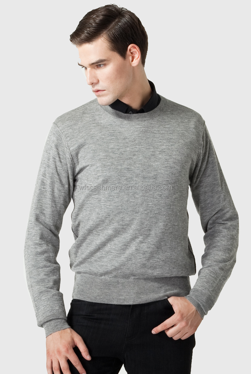 2015 high quality boutique cashmere thick sweater for men