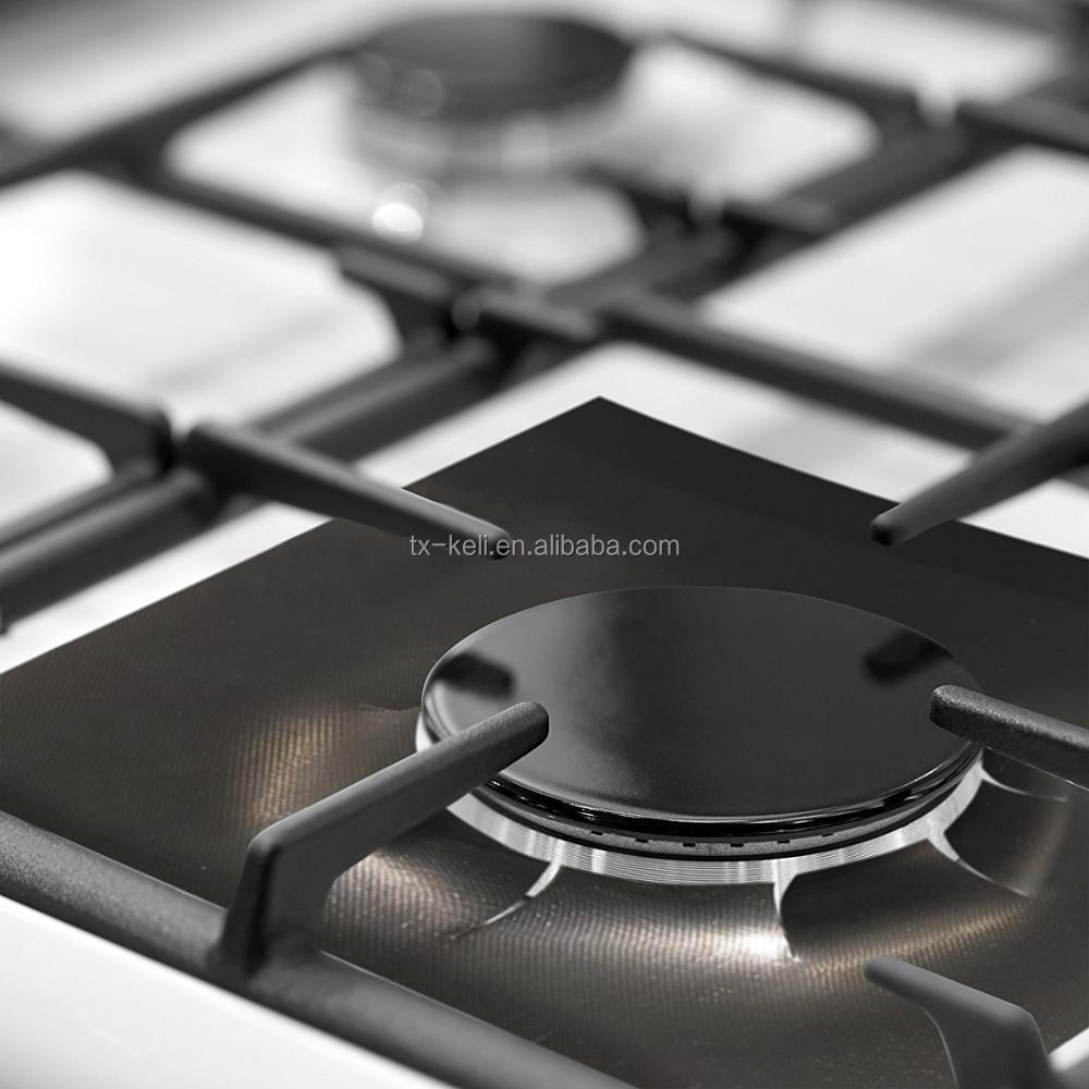 0.20mm thick Non-stick Gas Range Protector set of 4 - keep stovetop burner clean