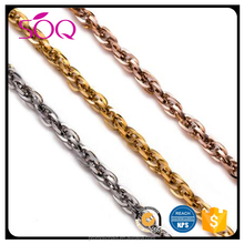 New Fashinal Stainless Steel Gold ,Rose gold double Weave Chain to Make jewelry