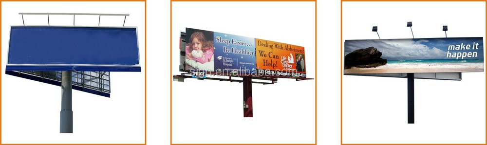 High quality Outdoor advertising double side gas station advertising