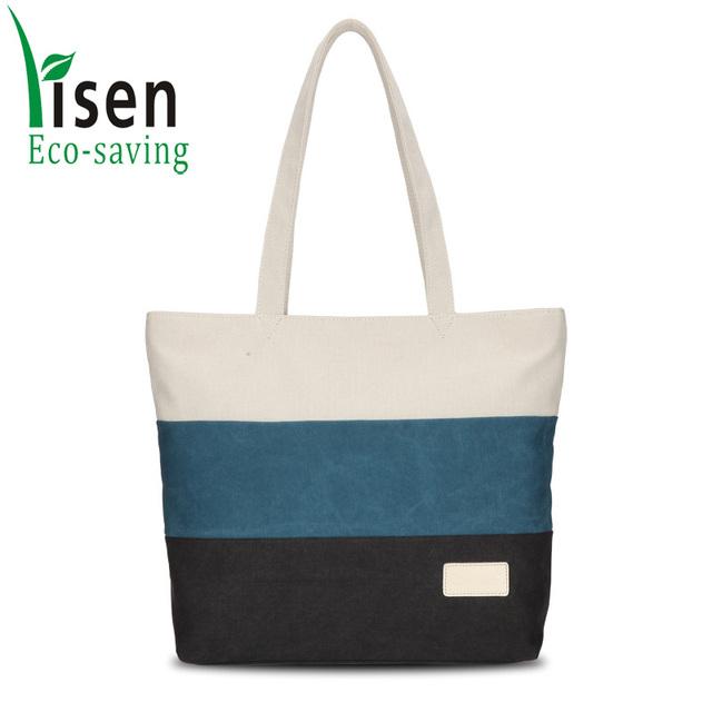 customized wholesales canvas latest design ladies hand bag women