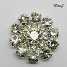 DEC10057 Wholesale rhinestone crystal press stud fasteners for clothes