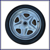 Free sample pu foam small rubber wheels for sale
