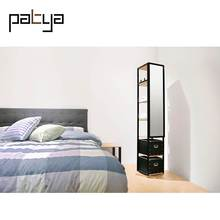 Patya Furniture Designs Wooden Full-length Simple Dressing Table With Mirror