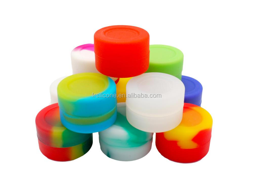 2017 best selling products Non stick FDA food grade multi-colored 2ml silicone jars dab wax container for oil/ wax