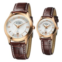 Alloy Leather Couple Watches EET8705LS