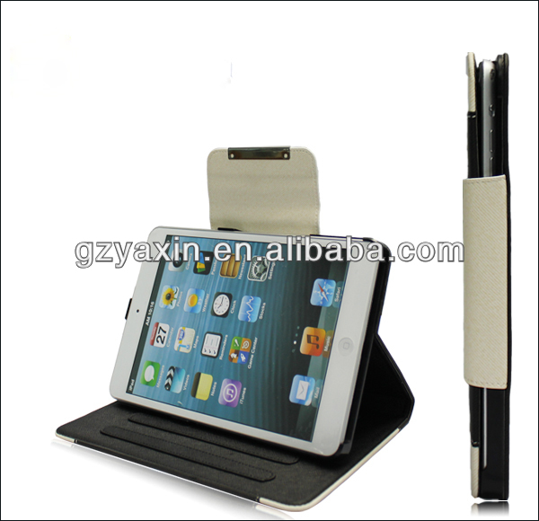 Top quality smartphone wallet leather case for ipad mini