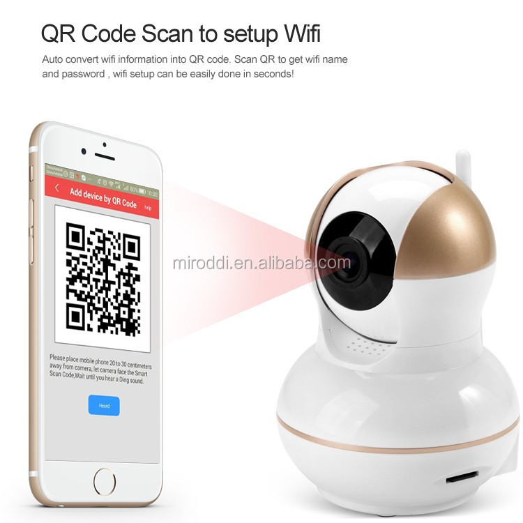 720 HD P2P CMOS Sensor Wifi Ipcamera Intelligent Wireless Alarm CCTV Camera