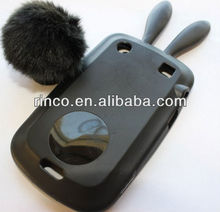 Silicone Rubber Case Bunny Ears Cover for Blackberry Bold 9900 9930