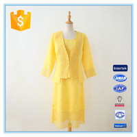 Casual ramie cotton simple 3 pcs ladies' church suits