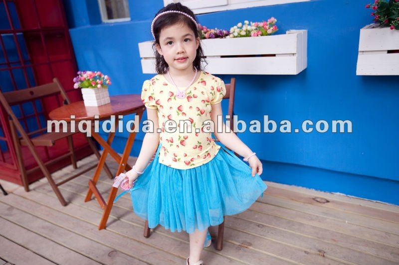 2012 newest girls flower dress /hot sale designs
