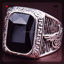 zircon copper brass alloy plating gold men's gold ring unique jewelry design