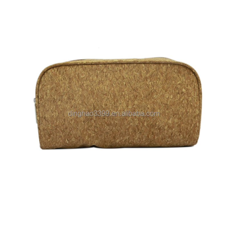 2017 promotion OEM Woodgrained Paper Cosmetic Bag Travel Lady Wooden Toiletry bag