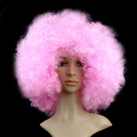 Pink nice hair Hot sale cosplay cheap Afro Harajuku Anime Party Wig Oversized Multi colour synthetic wigs QPWG-8040