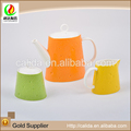 2015 Unique design colorful made stone pattern eco-friendly ceramic porcelain tea pot for dubai