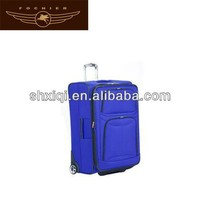 travel luggage 2014 two wheels expandable trolley case