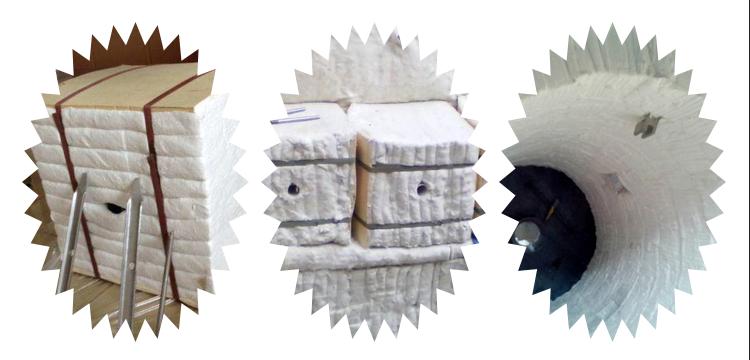 ceramic fiber folded module