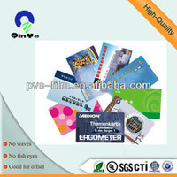 laminated pvc inkjet printing sheet with white golden silver color for ID card