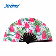 2017 Large and Beautiful Chinese Bamboo & Silk Hand Folding Fan