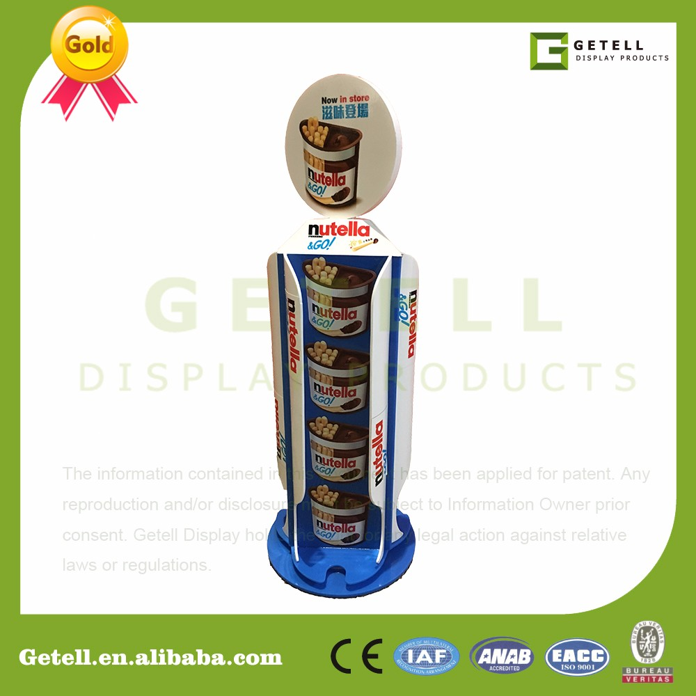 Acrylic table countertop display stand rack in supermarket check desk