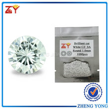 1.0mm Round CZ White Cubic Zirconia Wholesale Gemstone Price