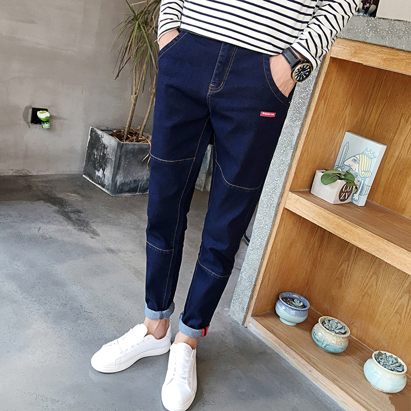 HT-MJ custom high quality mens jeans pants hot selling new style man jeans korean young style jeans