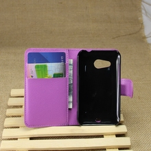 Contemporary useful leather phone case for htc desire 200