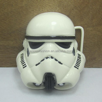 White mask STAR belt buckle WAR with black coating suitable for 4cm wideth belt with continous stock