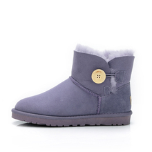 Winter Low Cylinder Women Snow Boots Of Shipskin