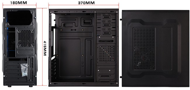 Normal Office ATX Case with 3 USB Port