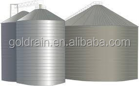 Assembly flat bottom small grain silos