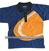 mens polo tshirt with contrast collar and sleeve