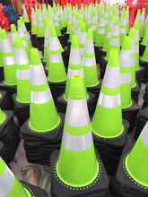 White Green yellow reflective PVC cone/pvc road safety traffic