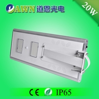 20W IP65 long lifespan integrated all in one indoor solar LED street light komplet price aluminum