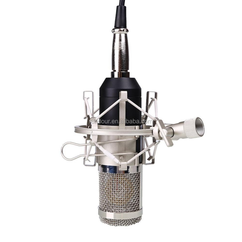 2017 popular BM-800 Condenser Microphone Studio Sound Recording condenser microphone with Shock Mount