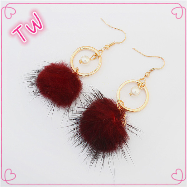 Online shopping alibaba taiwan jewelry wholesale free samples luxury long fabric hanging earrings for elegant women