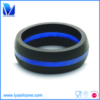 men's two colors silicone wedding ring manufacturer