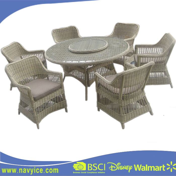 Outdoor Aluminium Furniture General Use and Folded Garden PE rattan dining chair and table Set Living accents outdoor furniture