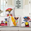 New arrival cute 3d digital print animal dog cotton linen cushion cover wholesale