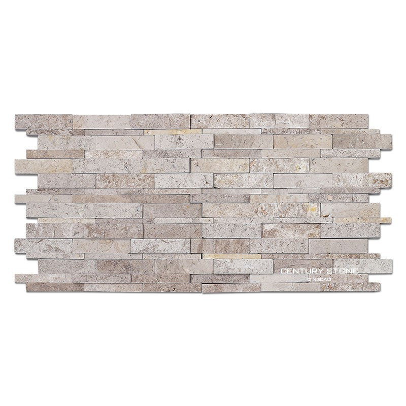 Natural split face travertine mosaic