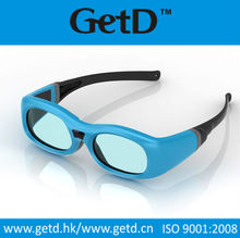 Cheap active shutter rechargeable 3d glasses for cinema