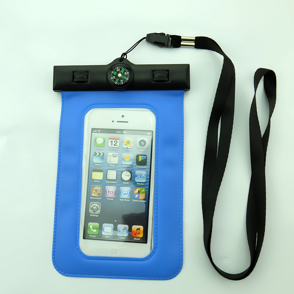 Wholesale Waterproof Phone Case with compass,PVC Waterproof Bag with compass,Alibaba china cheap Waterproof Pouch