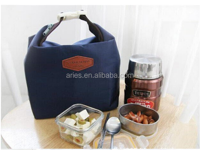 Hand Carry Zipper Cooler Lunch Picnic Bag Warmer Insulated Box Portable Tote Bag