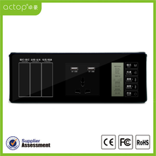 China Supplier Smart Hotel Control System ACTOP Hotel Smart Glass Switch