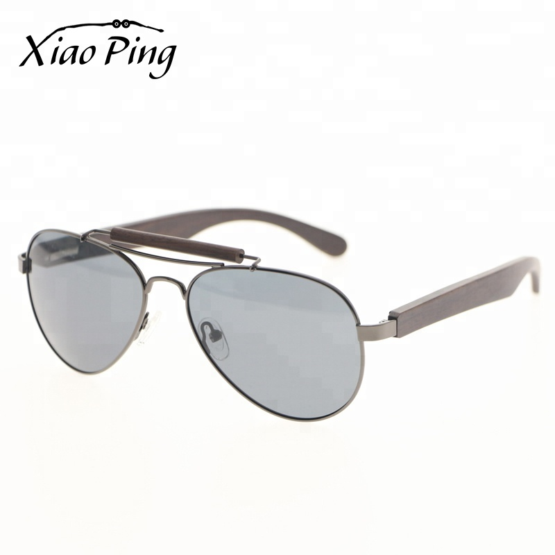 handmade retro fashion aviation wooden polarised sunglasses with wooden cases sunglasses