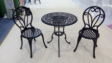 bistro set with ice bucket 2 chairs with 1 table