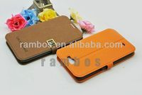 PU Leather Flip Wallet Case Stand Case Cover for Samsung Galaxy Note 2 N7100